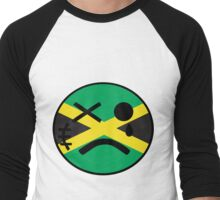 Jamaican Smiley Men's Baseball ¾ T-Shirt