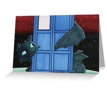 Toothless & Tardis (Sketch sticker) Greeting Card