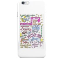 """Half a Heart"" Lyric Drawing iPhone Case/Skin"