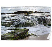 Waves, Rocks & Moss, Burns Beach Poster