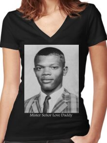 Mister Señor Love Daddy Women's Fitted V-Neck T-Shirt