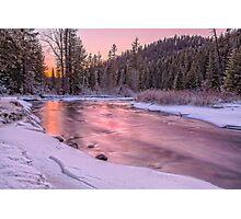 Teanaway River Sunset Photographic Print