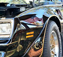 TransAm with US Flag Reflection by GrannyMay