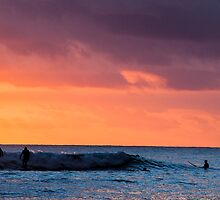 Sunset at Waikiki Beach by Karen Duffy