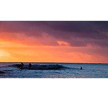 Sunset at Waikiki Beach Photographic Print
