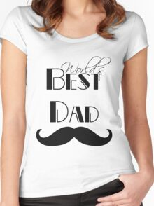 World's Best Dad Mustache Women's Fitted Scoop T-Shirt