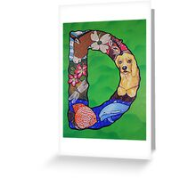 The Letter D Full Painting Greeting Card