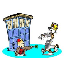 Calvin and Hobbes Doctor Who by Skree