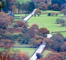 Capel Curig valley road by nadine henley