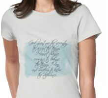 Serenity Prayer Womens Fitted T-Shirt