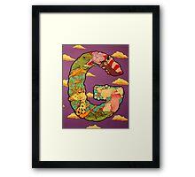 The Letter G Full Painting Framed Print