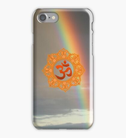 Om with Rainbow iPhone Case/Skin