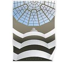 Guggenheim Museum interior Poster
