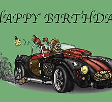 AC COBRA STYLE STEAMPUNK BIRTHDAY CARD by squigglemonkey