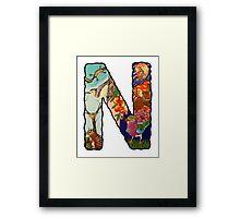 The Letter N Framed Print