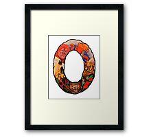 The Letter O Framed Print