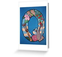 The Letter Q Full Painting Greeting Card