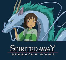 Spirited Away Chihiro and Haku-Studio Ghibli by Lhethril