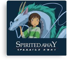 Spirited Away Chihiro and Haku-Studio Ghibli Canvas Print