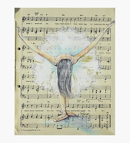 Painted Dancer Photographic Print