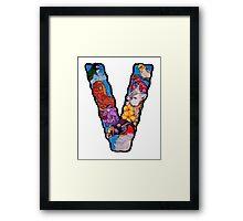The Letter V Framed Print