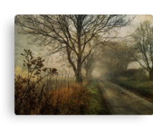 Holloway Road in Winter Fog Canvas Print
