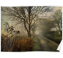 Holloway Road in Winter Fog Poster