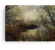 Across the River in Winter Canvas Print