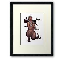 Daenerys Targaryen and 3 dragons Framed Print