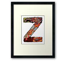 The Letter Z Framed Print