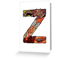 The Letter Z Greeting Card