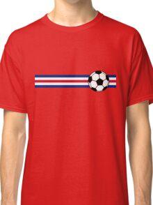 Football Stripes Costa Rica Classic T-Shirt