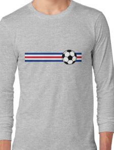 Football Stripes Costa Rica Long Sleeve T-Shirt