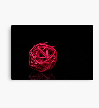Red decoration ball Canvas Print