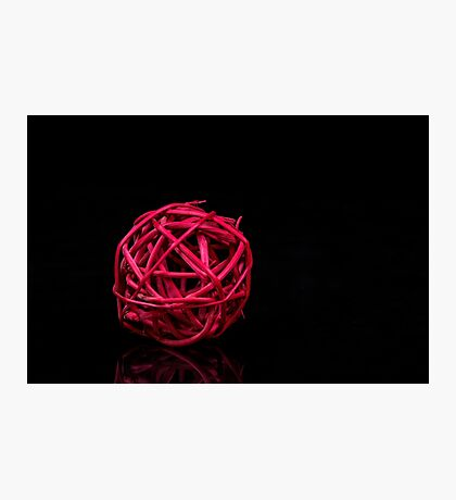 Red decoration ball Photographic Print