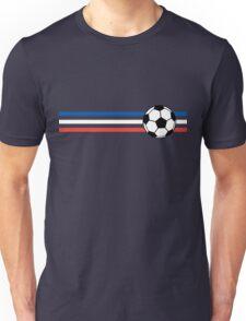 Football Stripes France Unisex T-Shirt