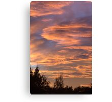 Coloured Clouds Canvas Print