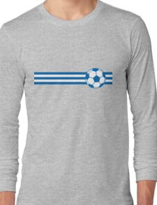 Football Stripes Greece Long Sleeve T-Shirt