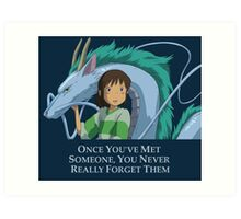 Spirited Away Chihiro and Haku-Studio Ghibli Art Print