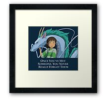 Spirited Away Chihiro and Haku-Studio Ghibli Framed Print