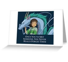 Spirited Away Chihiro and Haku-Studio Ghibli Greeting Card