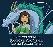 Spirited Away Chihiro and Haku-Studio Ghibli Photographic Print