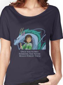 Spirited Away Chihiro and Haku-Studio Ghibli Women's Relaxed Fit T-Shirt