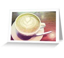 latte art Greeting Card