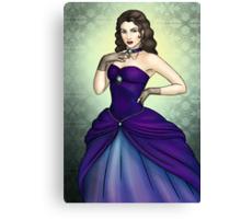 Princess in a Blue Ballgown Canvas Print