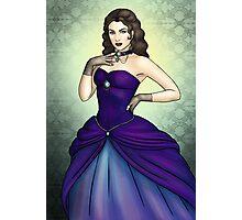 Princess in a Blue Ballgown Photographic Print
