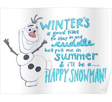Happy Snowman Poster