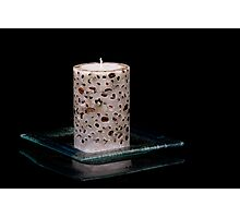 Coffe and Candle Photographic Print