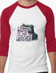 Weeping Angel Statue of Liberty Men's Baseball ¾ T-Shirt