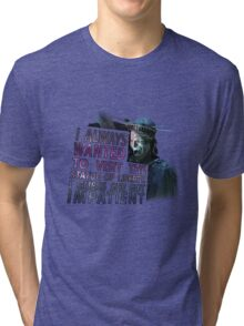 Weeping Angel Statue of Liberty Tri-blend T-Shirt